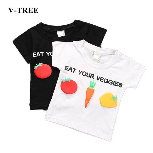 1f4885c23 Summer 3D Print T Shirts For Girls Cartoon Vegetables Boys Shirts ...