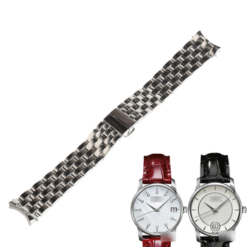 WENTULA watchbands for MIDO M007.207A/M007.228  BARONCELLI stainless steel solid band