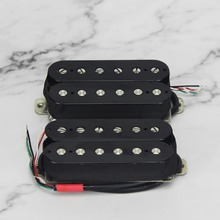 FLEOR גיטרה איסוף מאלניקו 5 Humbucker איסוף שחור לגיטרה חשמלית כפול סליל, צוואר או גשר טנדר לבחור