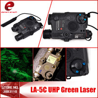 New Version Airsoft Element Flashlight LA 5C PEQ UHP Tactical Laser Flashlight Hunting Laser Green Light EX 419