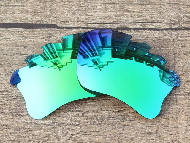 Esmeralda Verde Espelho Polarizado Lentes de Substituição Para O Flak Jacket XLJ Vented SUNGLASSES Quadro 100% UVA & Uvb