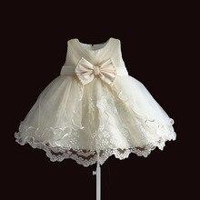 Bebek Kız Elbise Parti Prenses Dantel Inci Bebek Vaftiz Elbise 1 Yıl doğum günü elbiseleri Noel Bebek Giyim