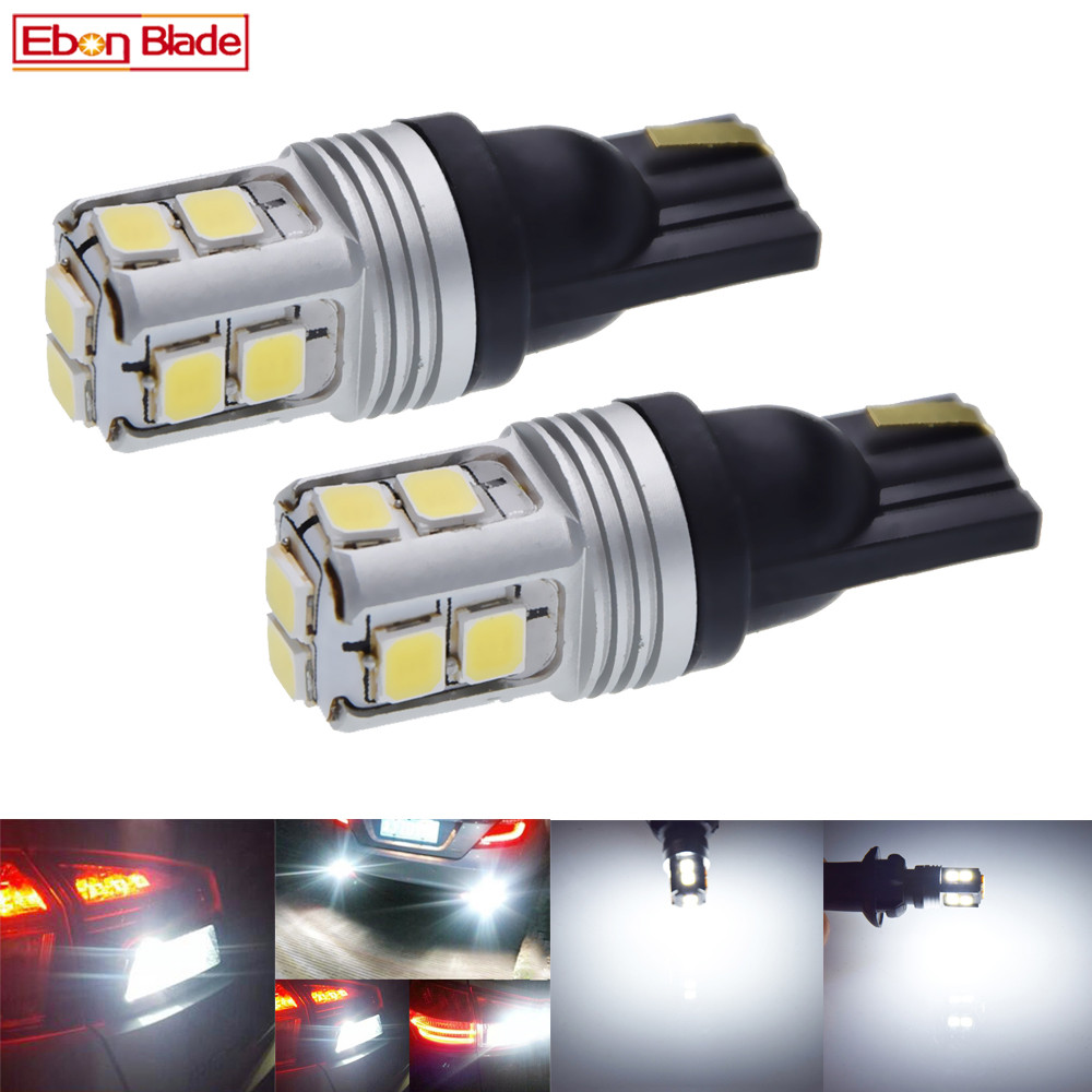 Pair T10 W5W 194 168 2825 White Canbus LED Bulbs For Car Interior Dome Map Light Automobiles License Plate Parking Lamp 12V DC-in Signal Lamp from Automobiles & Motorcycles