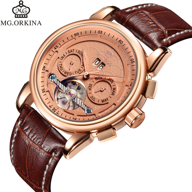 ORKINA Mens Watches Luxury Brand Automatic Mechanical Watches