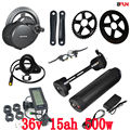 EU UNS Keine steuer bafang BBS02B 36 v 500 watt mid zentralen kurbel motor elektrische fahrrad conversion kit mit 36 v 15AH Wasser Flasche batterie|bafang 500w|battery bafangbbs02 500w 36v -