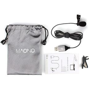 Image 4 - MAONO USB Microphone Lavalier Mic HandsFree Condenser Microphone Shirt Collar Clip on Lapel Mic for PC Computer Laptop YouTube