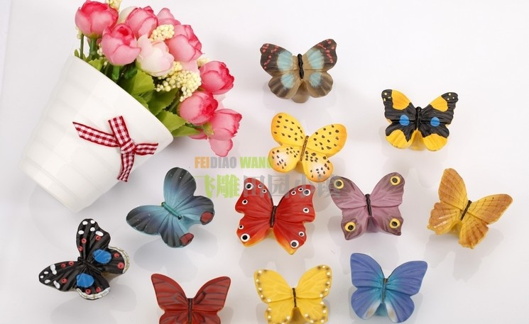 11 colors Resin Butterfly Kids Children Room Drawer Pulls Knobs ...