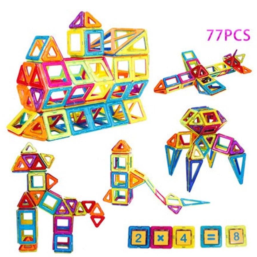 Magnetic Toy 77PCS Mini Magnetic Models & Building Blocks Construction Designer Set Children Educational Toy magnetic toy 77pcs mini magnetic models