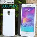 Внешний 3800 мАч Power bank дело пакет обратно Зарядки аккумулятора для Samsung galaxy Note 4 N910