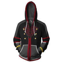 Fans Wear Sweatshirt Kingdom Hearts 3D Printed Hoodies Sora Zipper Men Hoodie