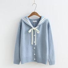Осенний женский свитер, корейский стиль, женский свитер с длинными рукавами, с отворотом, с вышитыми буквами, Harajuku, женский свитер, кардиган