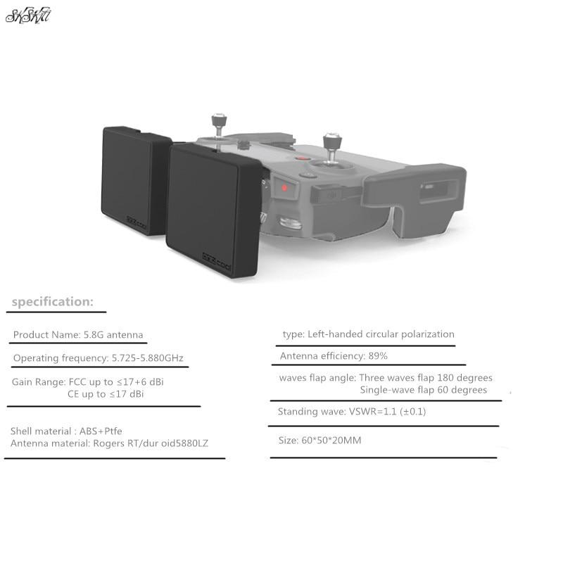 A distanza di Controllo Modificato Antenna 5.8G Guadagno 17DBi Segnale antenna booster di Trasmissione Per DJI mavic 2 pro e zoom drone
