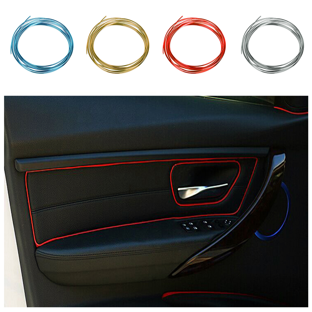 5M DIY Insert Type Thread Sticker Car Decoration Strip Automobiles Air Outlet Dashboard Door Slot Decors Car styling
