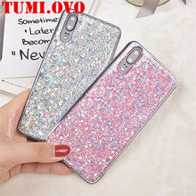 Case For Huawei Nova 3 2i P Smart P20 Pro P10 P9 P8 Lite 2017 Honor 7A 7C 8 9 10 Y5 Y6 Y7 2018 Silicone Glitter Crystal Sequins(China)