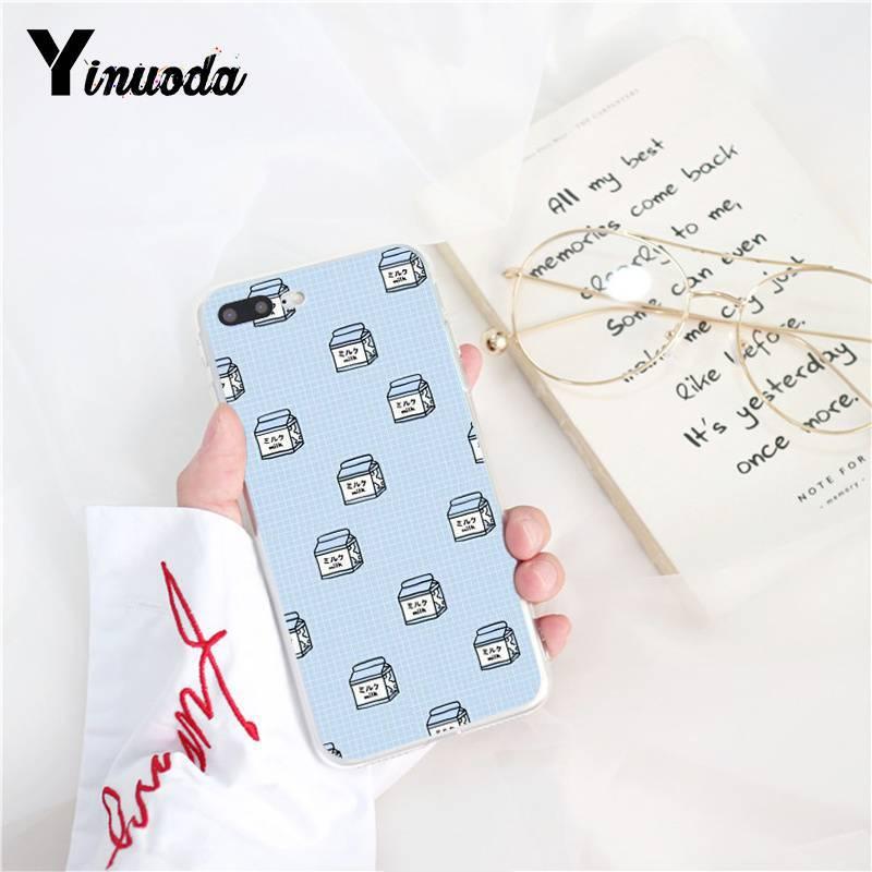 Yinuoda Kawaii Japanese Strawberry Milk Luxury Unique Phone Cover for iPhone 8 7 6 6S Plus X XS MAX 5 5S SE XR 10 Fundas Capa