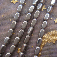 New! wholesale AAA 215pcs/lot 2x3.5mm Grey Silver Hematite Cuboid Loose Beads Free Shipping