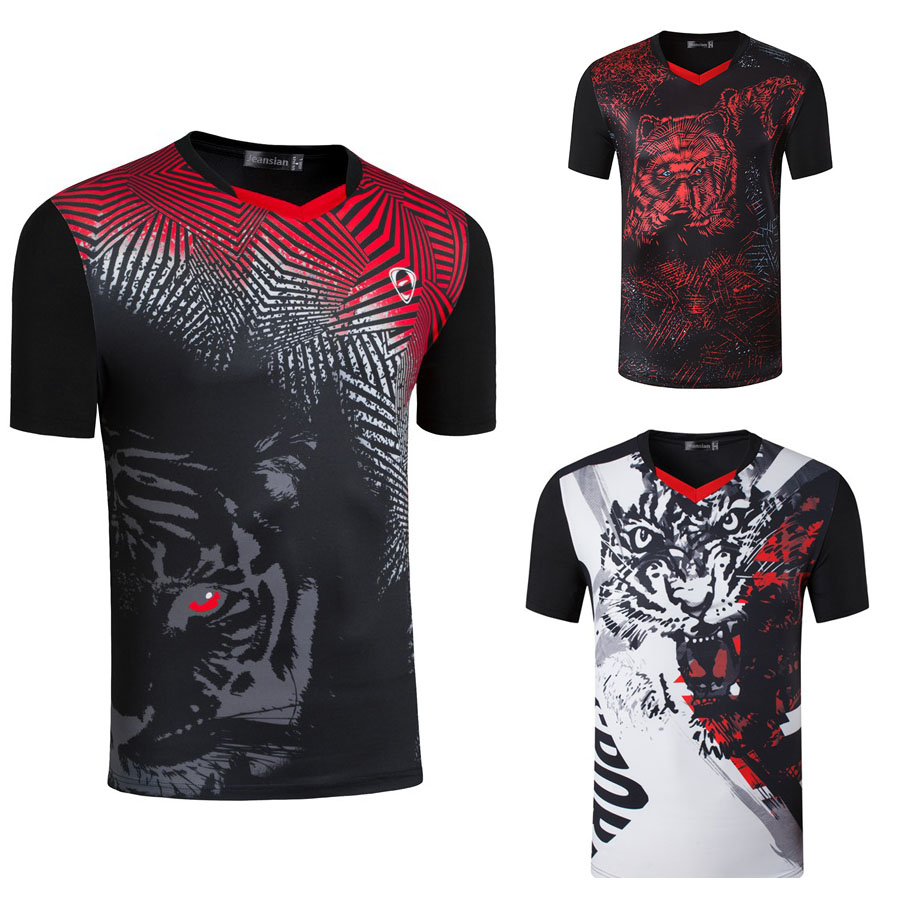 New 3D Men Tennis Polyester TShirts , Quick Dry Gym Fitness training Jersey , Tennis tops tees clothes , Male Badminton Uniforms
