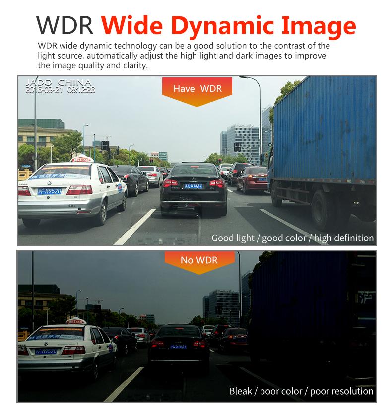 JADO D680S Car Dvr Camera Full HD 1080P Car Dvrs Dual Lens Recorder 6.86' Car Camera Dash cam ADAS Rearview Mirror Registrar 14