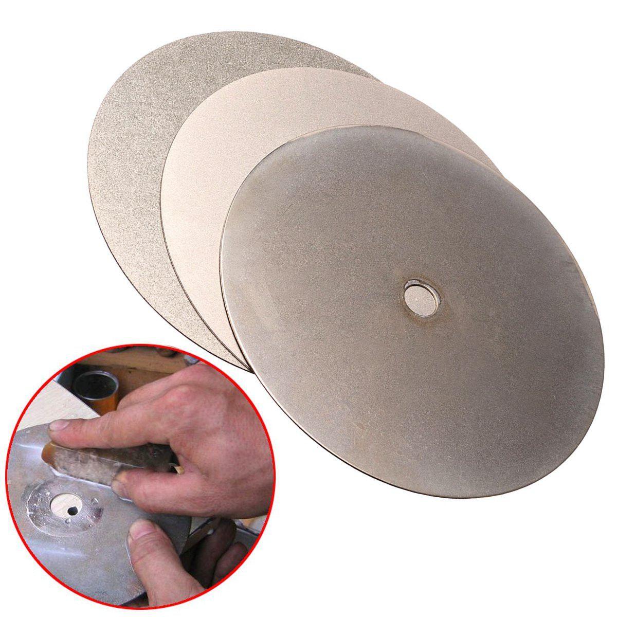 New 3Pcs 150mm 6 Inch Diamond Grinding Wheel Grit 240# 600# 3000# Flat Lap Disk Wheel Grinding Pad Tool Power Tool Accessories