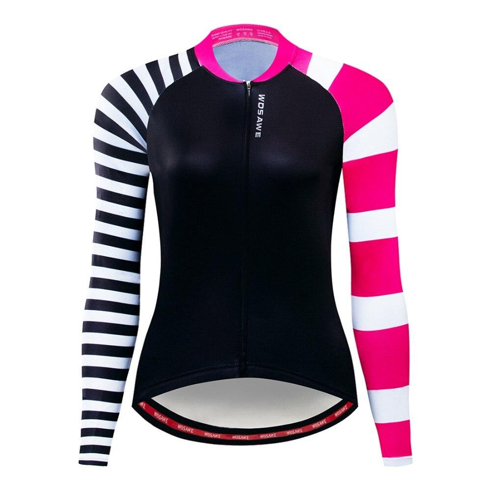 Женская одежда для велоспорта WOSAWE  демисезонная дышащая одежда с длинными рукавами для велоспорта
