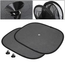 2Pcs Car Window Sunshade Sun Shade Visor Side Mesh Cover Shield Sunscreen Black  44 x 36 cm