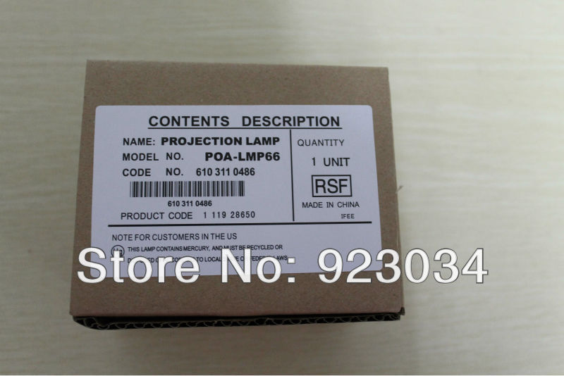 projector lamp POA-LMP66 for SANYO PLC-SE20 PLC-SE20A купить