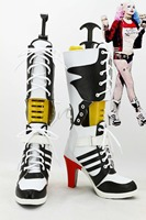 2016 Suicide Squad Harley Quinn Cosplay Boots Female Clown Halloween Anime Shoes