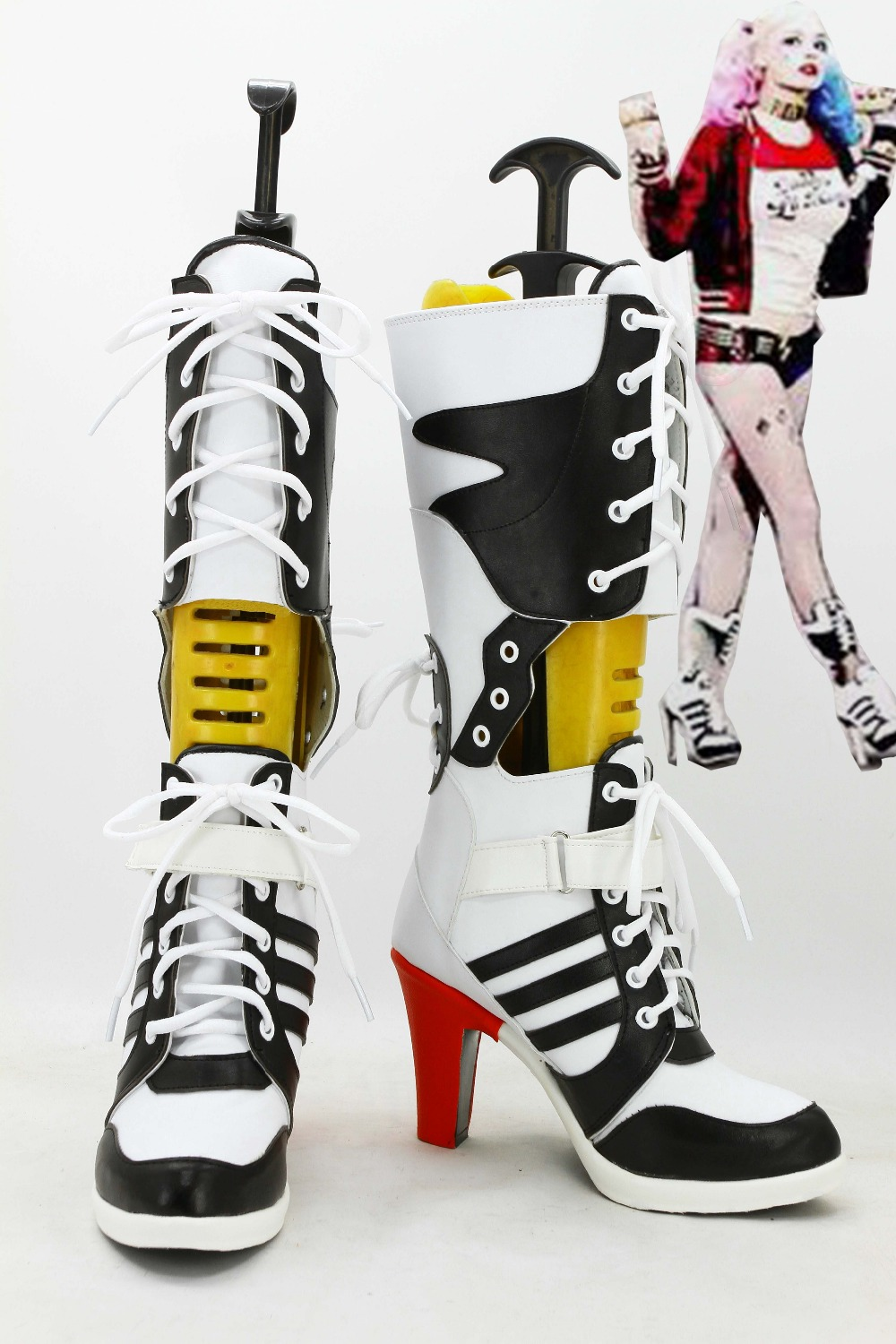 Suicide squad Cosplay Boots Female Clown Halloween Anime Shoes