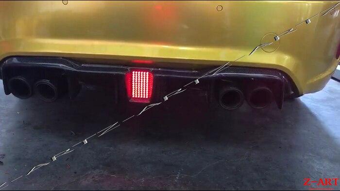 En fiber de carbone arrière chin pour BMW M2 2015-2017 Réel de fiber de carbone LED lumière arrière diffuseur pour BMW F87 m2 livraison gratuite