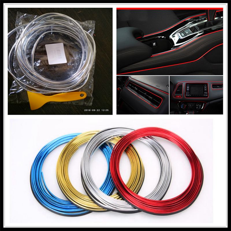 Car interior Decoration thread sticker Insert Air Outlet Strip <font><b>Accessories</b></font> for <font><b>Infiniti</b></font> QX QX60 <font><b>Q30</b></font> Q70L Q70 Synaptiq Q80 image