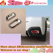High Quality car Styling cover ABS Chrome rear tail fog Light Trim frame Accessories for subaru XV 2012 2013 2014 2015 2016 2pcs