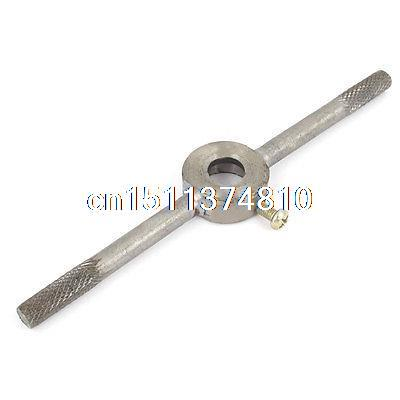 14.5cm Long Metal 7mm Shank 20mm Dia Round Die Stock Wrench Handle Tool 20pcs m3 m12 screw thread metric plugs taps tap wrench die wrench set