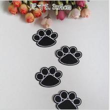5.3*4m Color Dog Footprint Cloth Paste Embroidered Patch For Clothes Tshirt  In Stock 100pcs