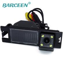 Auto car rear-view camera portare 4 led plastica nera shell antipioggia funzione adattarsi per Hyundai IX35 2010/2012/tucson 2011