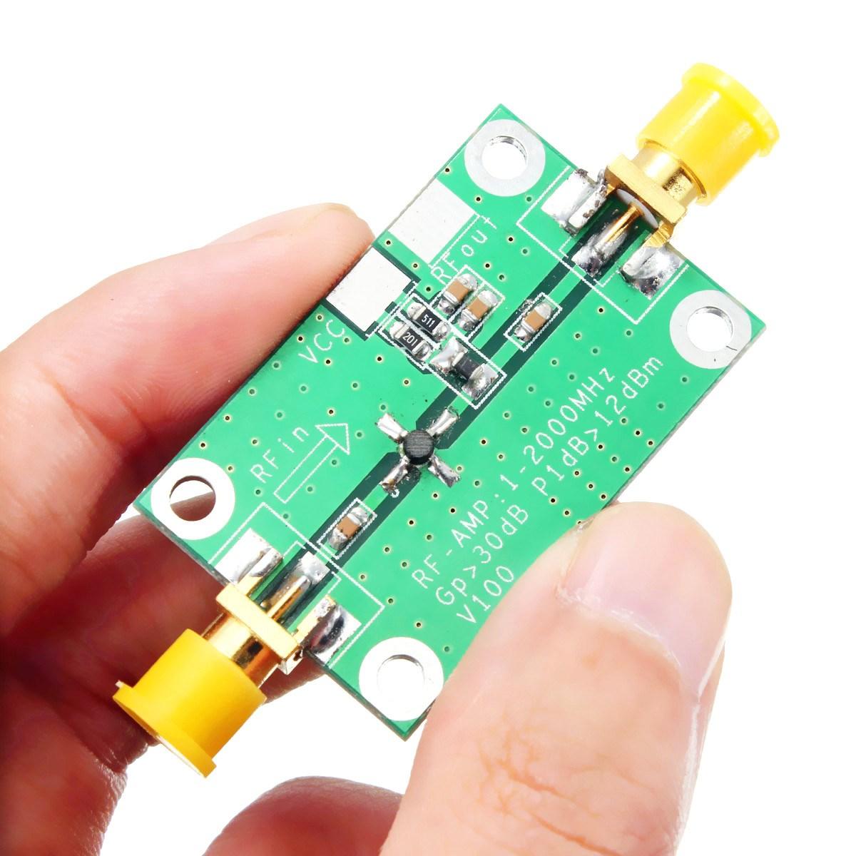 Excellente Qualité Meilleure Promotion 1-2000 MHz 2 Ghz À Faible Bruit LNA RF Large Bande Amplificateur Module 30dB HF VHF/UHF