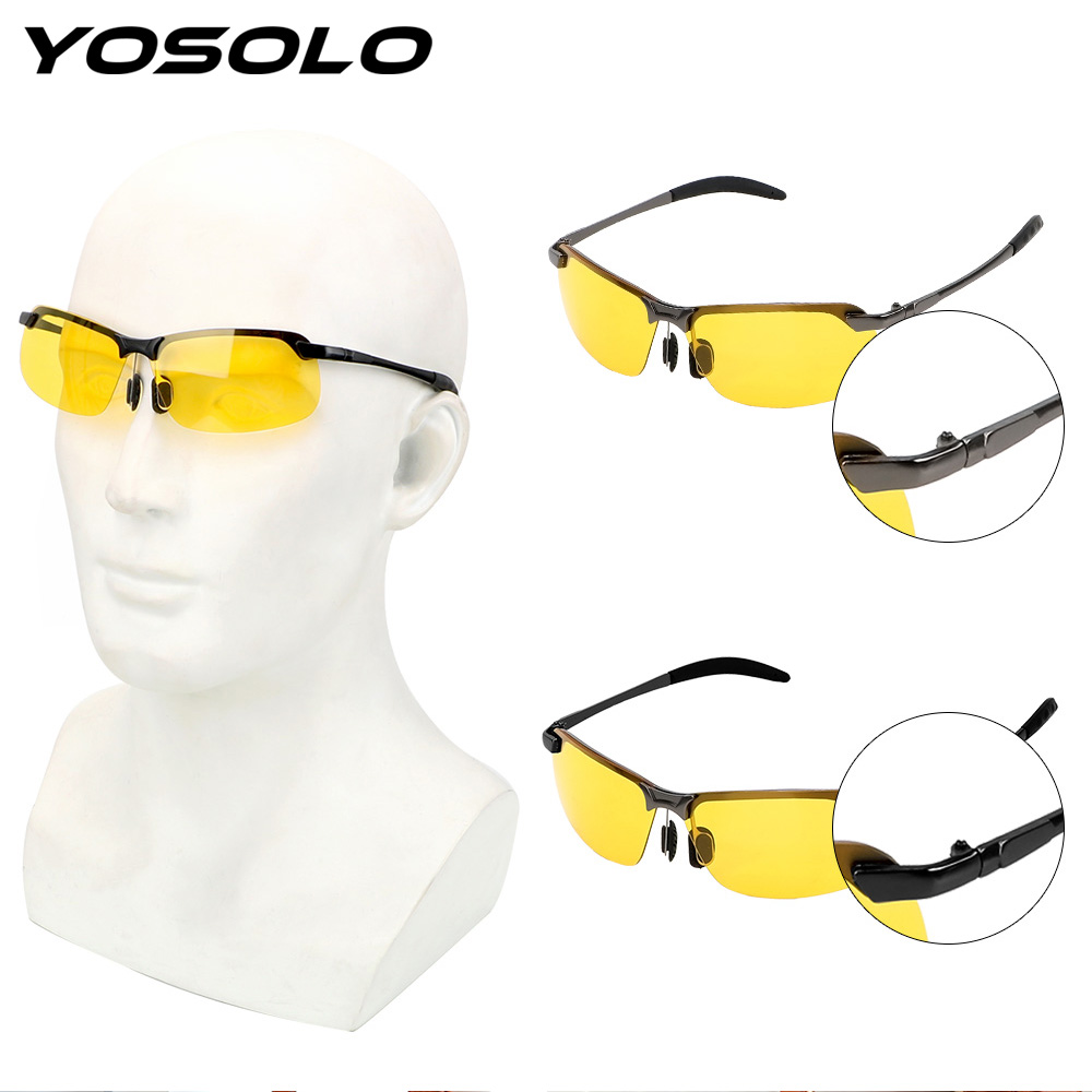 YOSOLO Car Driver Goggles Night Vision Sun Glasses Polarized Sunglasses UV400 Driving Glasses Car Styling UV Protection Eyewear