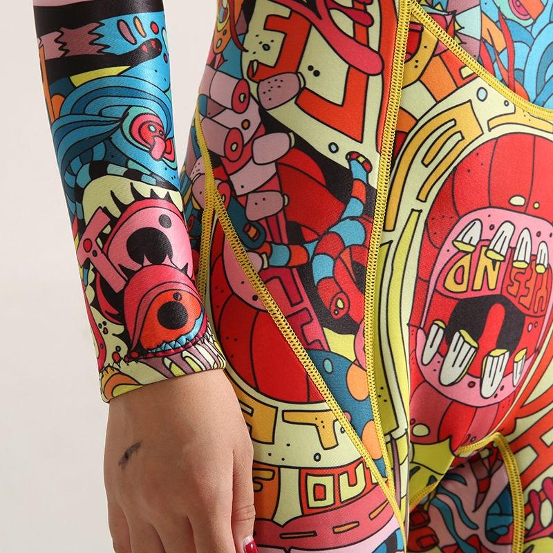 Hisea impression 3mm femmes néoprène combinaison couleur couture Surf équipement de plongée méduse vêtements à manches longues pièce équipée - 6