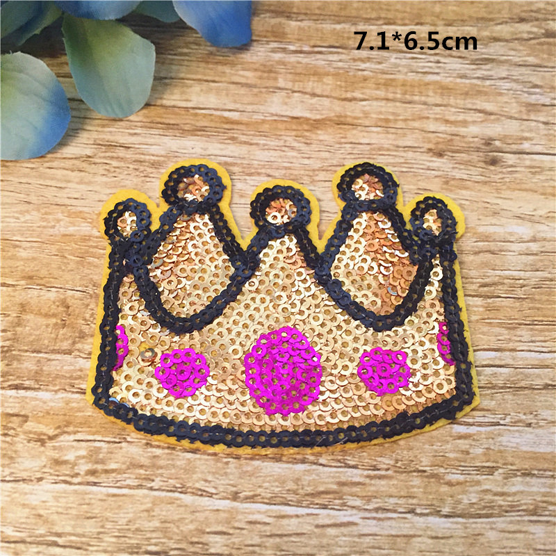 Diy Handmade Embroidered Patch: Wholesale Iron On Imperial Crown Patch DIY Handmade Decor