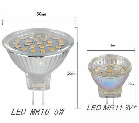 LED Spotlight MR16 3 W 5 W 35mm Lampada DIPIMPIN Bola Lampu MR11 Bombillas GU10 GU5.3 220 V 3014 5050 SMD Led Spot Light Rumah pencahayaan