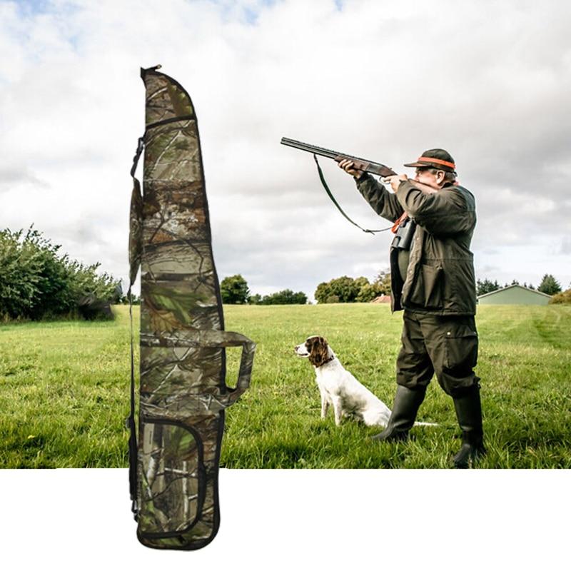 Military Airsoft Rifle Shotgun Bag Case 1200D Long Camo Scoped Rifle Bag Hunting Soft Padded Gun Carrying Storage 135CM 47 tactical hunting padded rifle sniper gun sling carrying case black