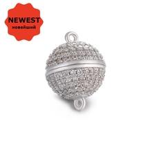 Магнитные застежки 4 размера, роскошные магнитные шарики из кубического циркония ААА для ручной работы, сделай сам, изготовление ювелирных изделий, магнитные застежки