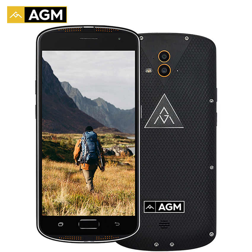 bilder für Original AGM X1 IP68 Wasserdicht Telefon 6 64 GB ROM 4 GB RAM OctaCore OTG Doppel Rückfahrkamera IP68 Fingerabdruck Smartphone Stoßfest