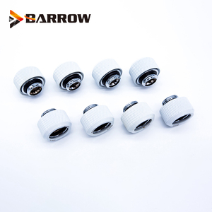 Image 3 - 8 Stks/partij OD12/14/16 Mm Harde Buis Montage Water Koeling Metalen Connector G1/4 OD12mm 14 Mm OD16mm Hand Compressie Messing Fitting