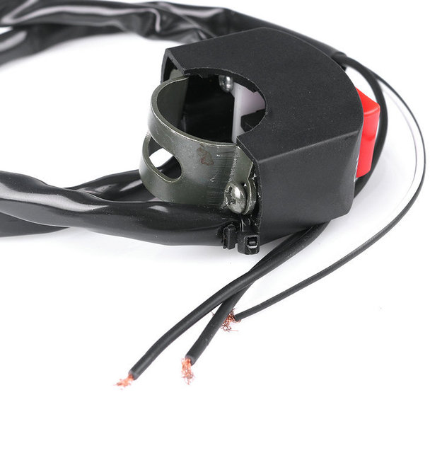 10 pcs 3 wires black motorcycle fog light switch 7/8\
