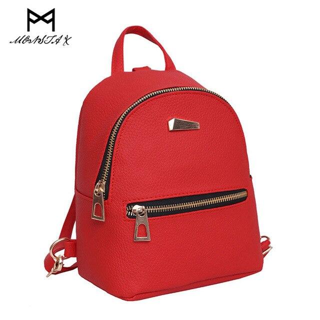 MONSTA X Womens Leather Backpack children backpacks mini backpack women back pack backpacks for teenage girl mochilas mujer