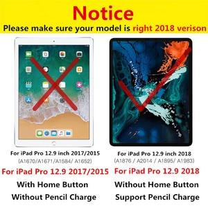 Image 2 - Funda para teclado de cuero para iPad Pro 12,9 2018, 7 colores, retroiluminación, para teclado de EE. UU., 12,9 pulgadas, 2018