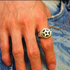 Image 5 - ZABRA oude zilversmid 925 zilveren ornament Thai zilveren pentagram zwarte Zirkoon zilveren ring herstellen van oude manieren mannen ringen
