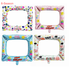 8-Season Boy Girl Graduation Photo Frame Balloon Booth Props Baby Shower Birthday Party Decorations Adult Photobooth