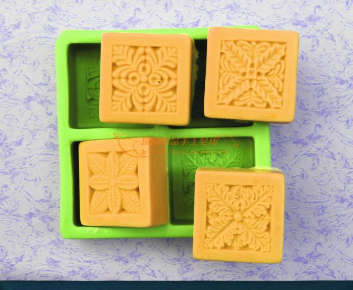 4 캐비티 잎 꽃 비누 금형 DIY 수제 공예 3d 비누 금형 - 예술, 공예, 바느질