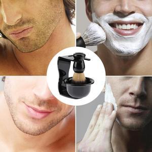 Image 3 - 3 w 1 mydło do golenia miska + pędzel do golenia + stojak do golenia włosia golenie włosów pędzel do golenia mężczyzn broda urządzenia do oczyszczania nowy Top prezent Drop ship